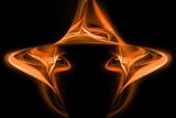 modern orange background, fire lights