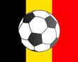 Fahne von Belgien und Fußball