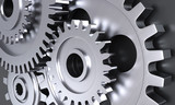 Gear wheel mechanics closeup