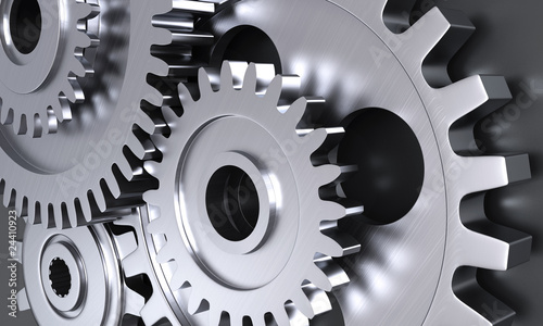 Gear wheel mechanics closeup - 24410923