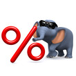 3d Elephant wants a percentage