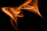 abstrakte orange wellen, schwarzer rahmen, wallpaper