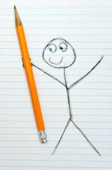 Cartoon artist sketch