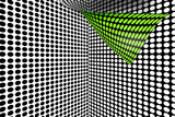 3d, green halftone dots, modern visual background poster
