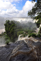 Argentina, Iguazu waterfalls - view from top
