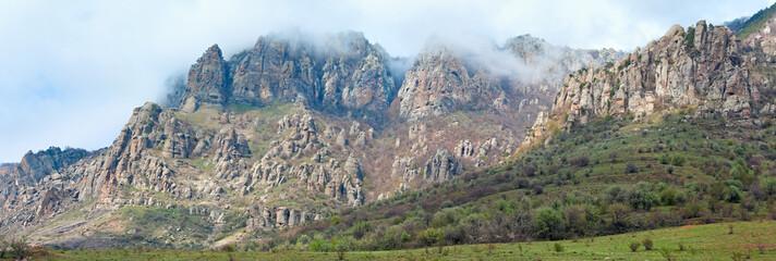 Rocky mountain panorama.