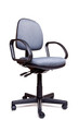 Office swivel chair side facing white background