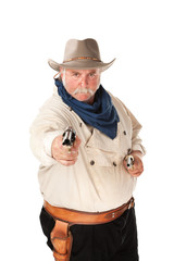 Cowboy on white background