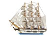 sailing-ship under full sails