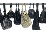 Fashion handbags hanging