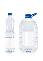 Two plastic bottle
