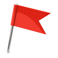 Red  flag pin