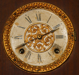 Antique Wind Up Clock Face