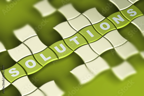 green solutions puzzle background - buiding solutions
