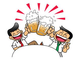 ビール(乾杯!)