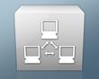 "Box-shaped Icon ""Network"""