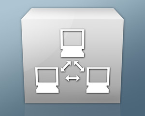 "Box-shaped Icon ""Network"""