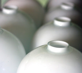 Bowls of lamps. Shallow DOF.
