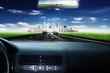 Fahrt in Richtung Stadt