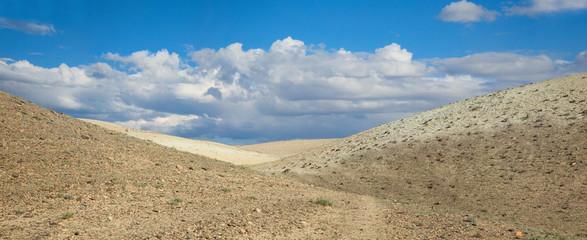 The hills in the desert