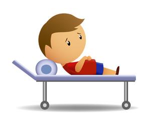 Boy ill on medic barrow