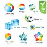 Fototapety Set of vector design elements 14