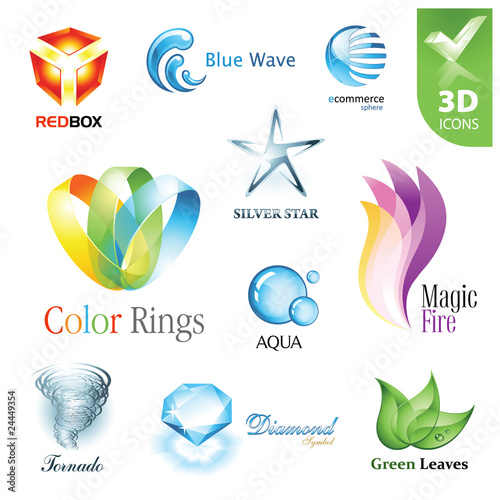 Set of vector design elements 12