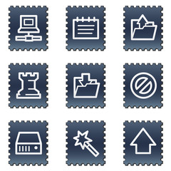 Data web icons, navy stamp series