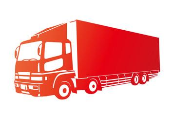 赤いトラック