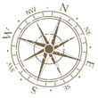 Old fashioned compass rose