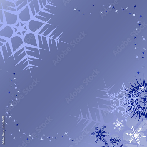 banner background blue. Winter lue banner background