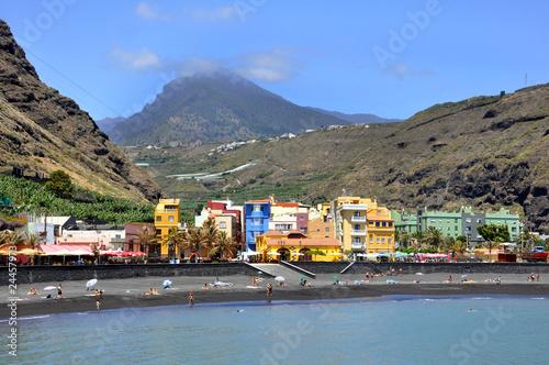 Leinwanddruck Bild Puerto de Tazacorte, La Palma