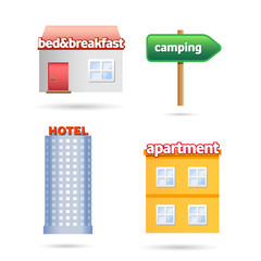 holiday accommodation icons