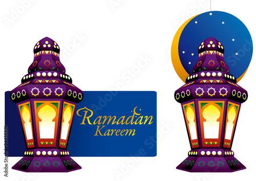 Arabic colorfull Lantern for Ramadan promotion