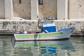 Trawler at Monopoli seaport. Apulia.