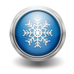 Icono borde metalico simbolo del frio