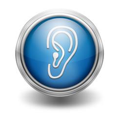 Icono borde metalico oreja