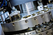 closeup of cnc machinery