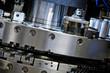 detail of CNC punching machine