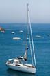 Yacht on still sea