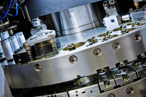closeup of cnc machinery