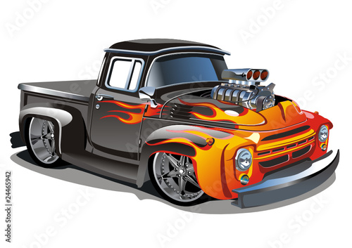 Keuken foto achterwand Cartoon cars vector cartoon hot-rod
