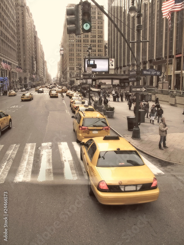Taxi in the streets of Manhattan, New York