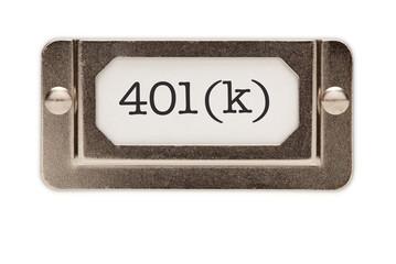 401(k) File Drawer Label
