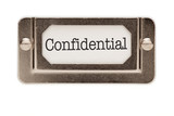 Confidential File Drawer Label poster
