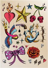 rockabilly tattoo vorlagen farbig