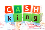 cash is king in toy play block letters