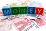 money in toy play block letters