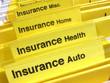 Leinwandbild Motiv Insurance folders