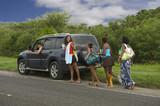 Fototapety Prendre un groupe de femmes en stop